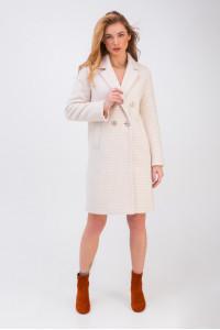 Женское пальто «Афина» бежевого цвета
