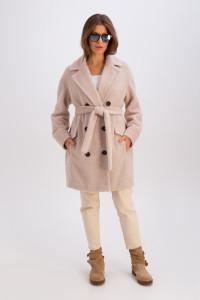 Женское пальто «Хани» бежевого цвета