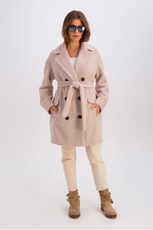 Жіноче пальто «Хані» бежевого кольору