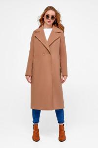 Жіноче пальто «Агнесса» кольору кемел