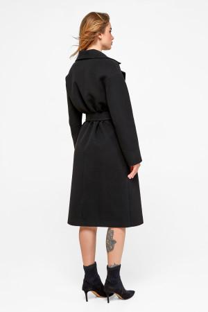 Женское пальто «Агнесса» черного цвета