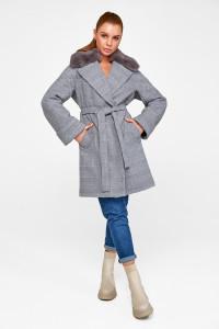Зимове пальто «Мілі» сірого кольору