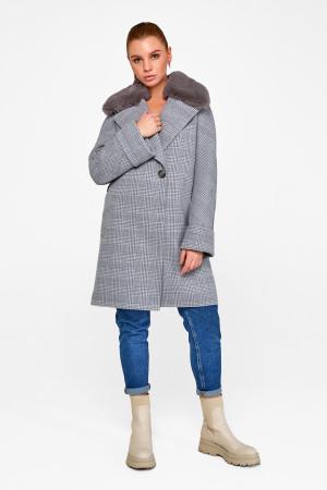 Зимнее пальто «Мили» серого цвета