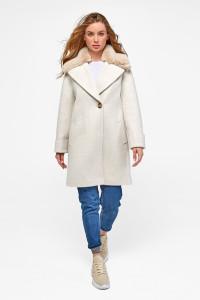 Зимове пальто «Мілі» бежевого кольору