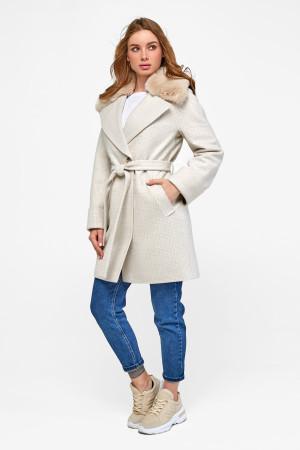 Зимнее пальто «Мили» бежевого цвета
