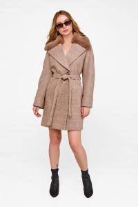 Зимове пальто «Мілі» кольору кемел