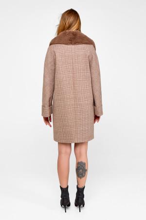 Зимнее пальто «Мили» цвета кэмел