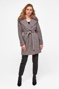 Зимове пальто «Мілі» коричневого кольору