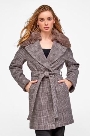 Зимнее пальто «Мили» коричневого цвета
