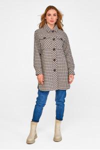 Жіноче пальто-сорочка «Ріккі» сірого кольору