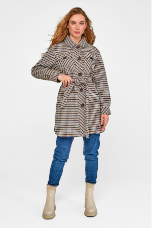 Женское пальто-рубашка «Рикки» серого цвета