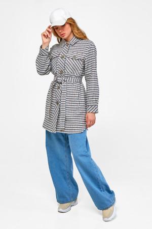 Жіноче пальто-сорочка «Ріккі» синього кольору
