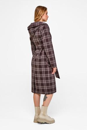 Женское пальто «Джета» коричневого цвета