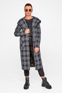 Жіноче пальто «Джета» чорного кольору