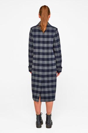 Женское пальто «Мисти» темно-синего цвета