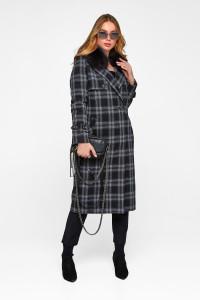 Зимове пальто «Філіс» чорного кольору
