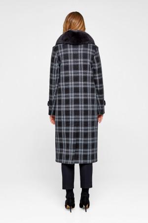 Зимнее пальто «Филис» черного цвета