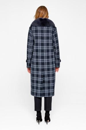 Зимнее пальто «Филис» синего цвета