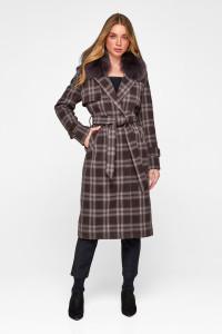 Зимове пальто «Філіс» коричневого кольору