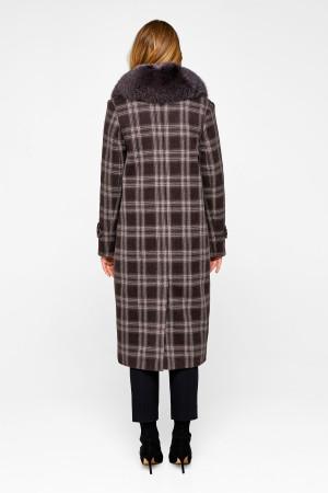 Зимнее пальто «Филис» коричневого цвета