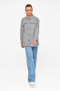 Жіноче пальто-сорочка «Лінн» синього кольору