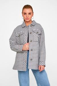 Женское пальто-рубашка «Линн» синего цвета