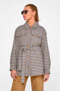 Жіноче пальто-сорочка «Лінн» сірого кольору