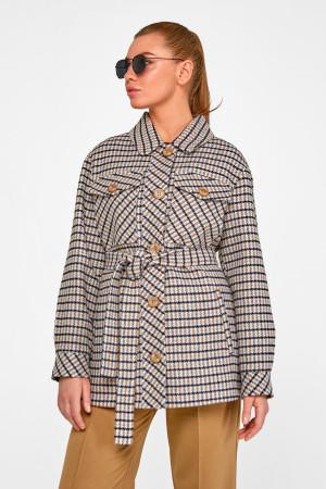Женское пальто-рубашка «Линн» серого цвета