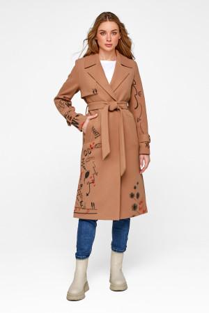 Женское пальто «Долли» цвета кэмел