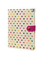 Ежедневник «Маленькие сердечки» на кнопке