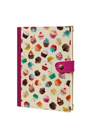 Ежедневник «Пирожные» на кнопке