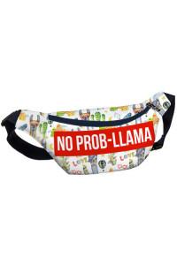 Сумка бананка «No prob-llama»