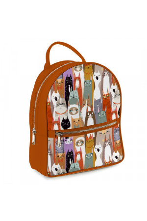 Міський рюкзак «Коти» кольору вохри