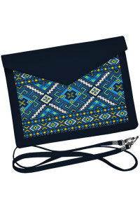 Клатч-конверт «Синій орнамент»