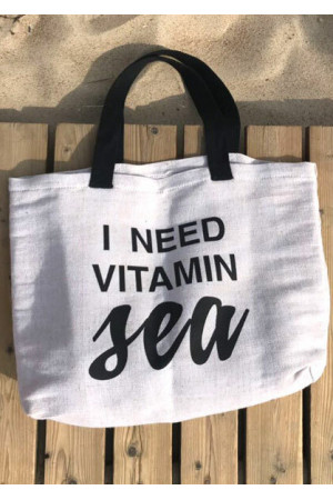 Пляжна сумка «I need vitamin sea»
