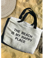 Пляжная сумка «The beach is my happy place»