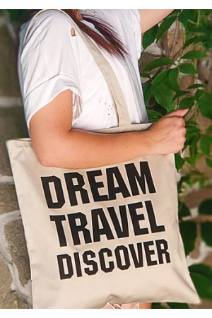 Эко-сумка «Dream travel discover»