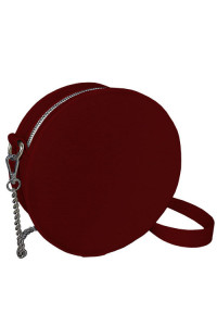 Кругла сумка «Габбі» (Tablet) бордового кольору