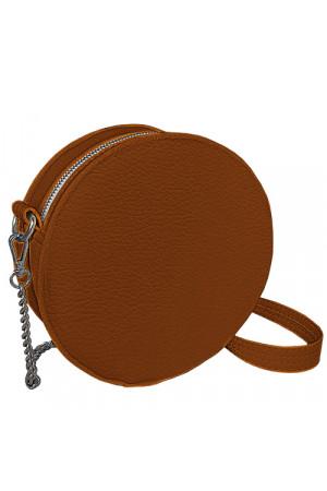 Кругла сумка «Габбі» (Tablet) рудого кольору