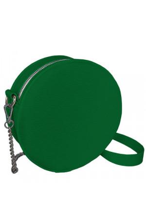 Круглая сумка «Габби» (Tablet) зеленого цвета