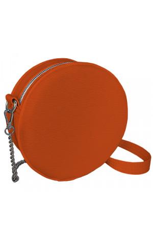Кругла сумка «Габбі» (Tablet) морквяного кольору