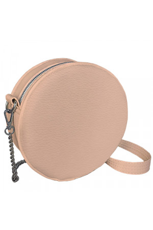 Круглая сумка «Габби» (Tablet) пудрового цвета