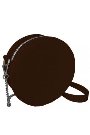 Круглая сумка «Габби» (Tablet) коричневого цвета