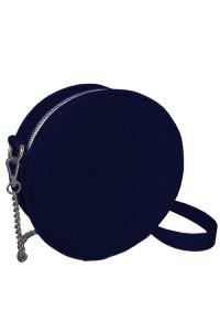 Круглая сумка «Габби» (Tablet) темно-синего цвета