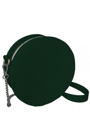 Кругла сумка «Габбі» (Tablet) темно-зеленого кольору