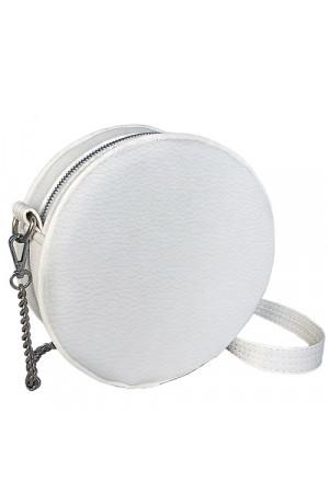 Кругла сумка «Габбі» (Tablet) білого кольору
