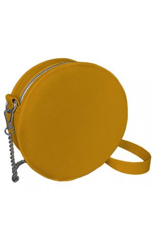 Круглая сумка «Габби» (Tablet) желтого цвета