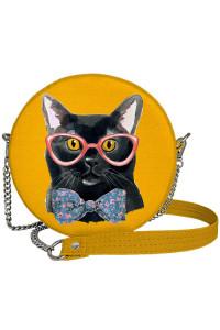 Круглая сумка «Кот в очках» (Tablet)