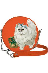 Круглая сумка «Белая кошка» (Tablet)