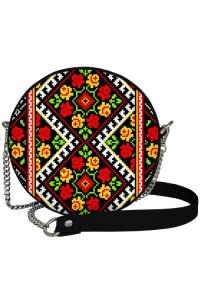 Кругла сумка «Трояндова вишиванка» (Tablet)